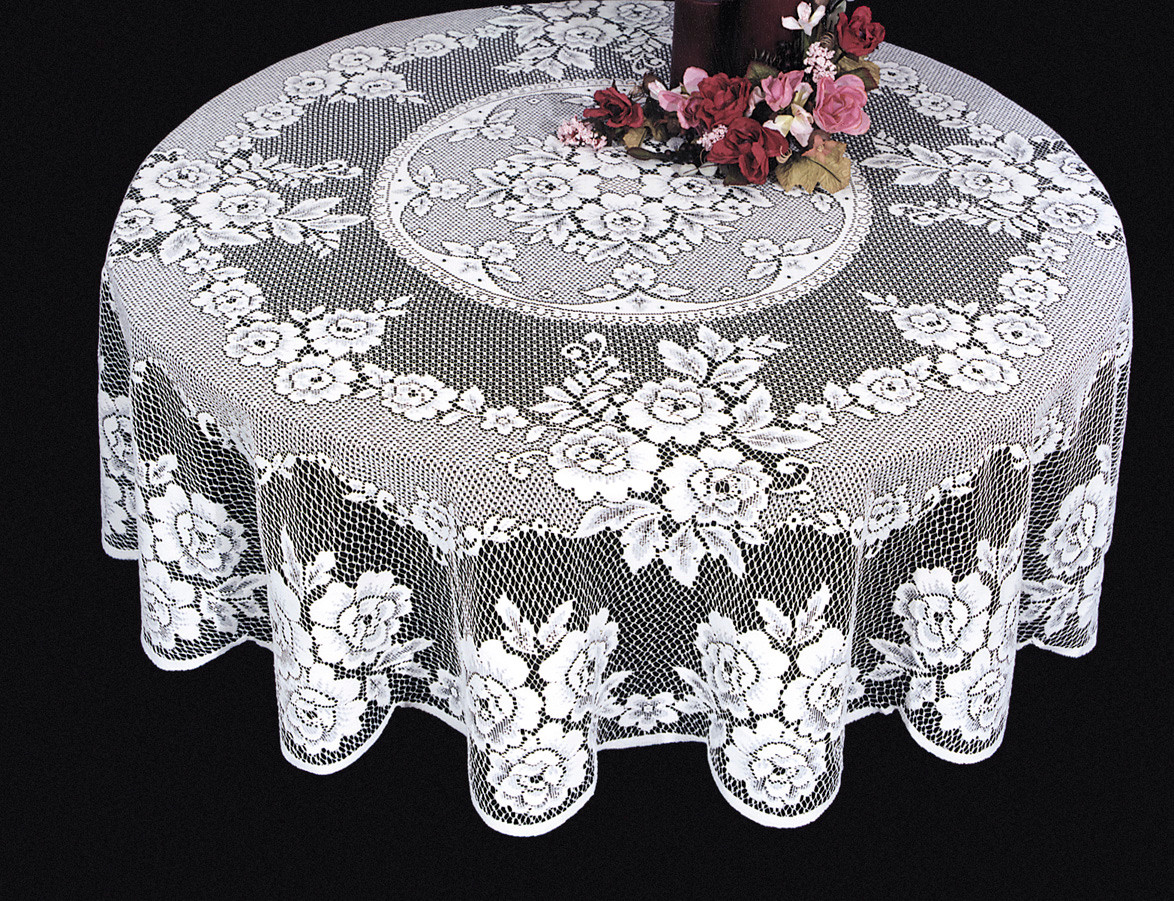 Lace Table Cloth Round Lace Tablecloth Victorian Rose