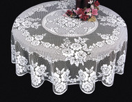 Victorian Rose Round Lace Tablecloth