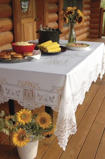 Heirloom Rectangle Antique Lace Tablecloth Yourtablecloth