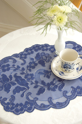 Elizabeth Indigo Blue Elegant Placemats