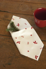 Christmas Time Christmas Cloth Napkins in Red