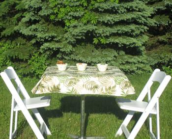Elegant Fern Flannel Backed Vinyl Tablecloths Yourtablecloth