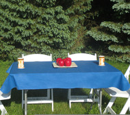 Royal Blue Vinyl Table Cloth