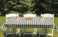 Black and White Tavern Checks Rectangle Vinyl Tablecloth