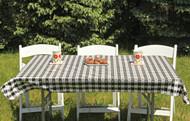 Black and White Tavern Checks Rectangle Vinyl Tablecloth