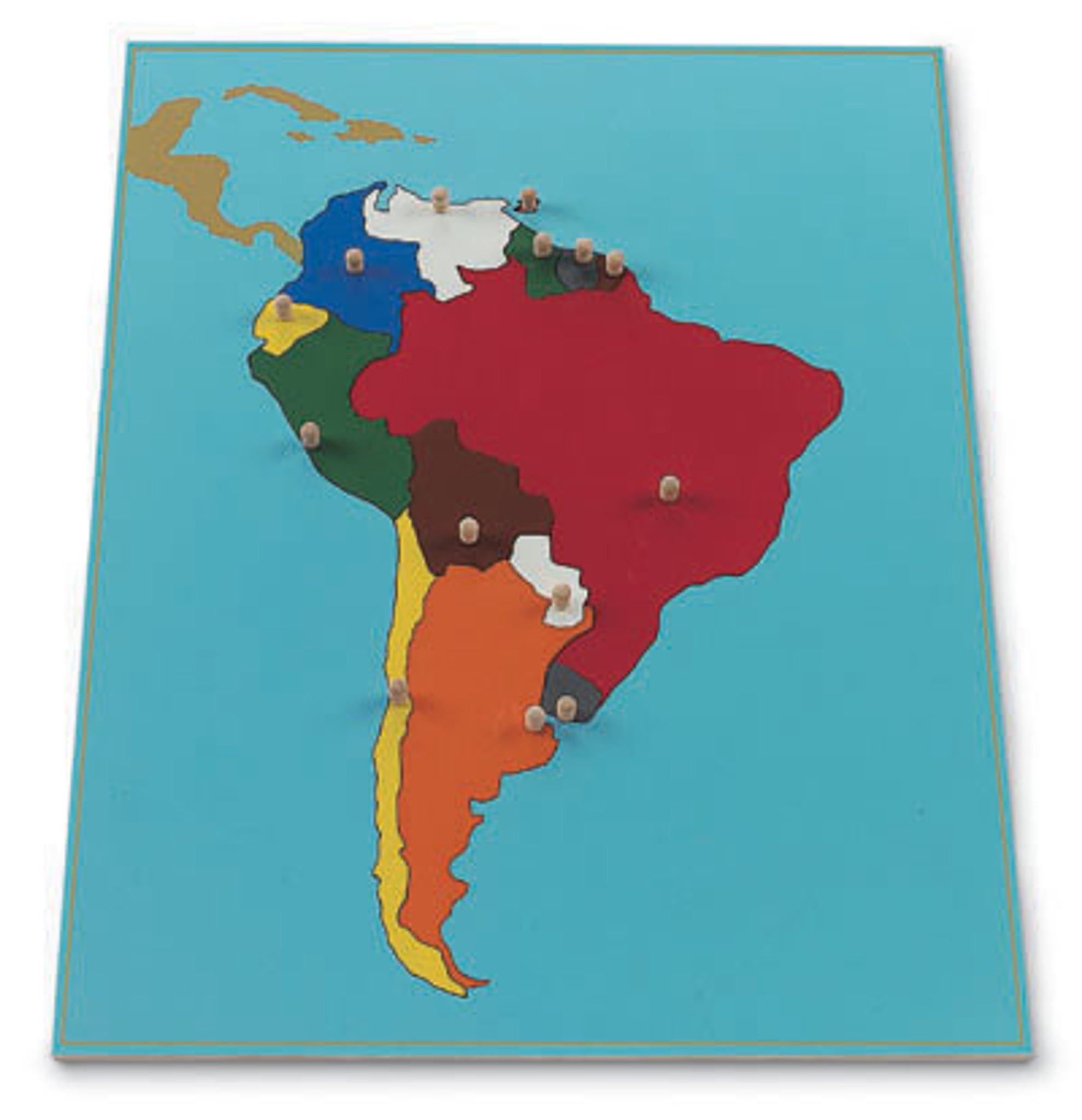 South America Puzzle Map