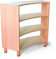 Very well made curved cabinet with access from 2 sides this is a 4 shelf unit. By Gonzagarredi in Italy