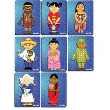 Multicultural puzzles set of 8 -6pce