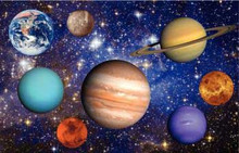 Set of 8 planets floor puzzle 62 pce with Vinyl mat