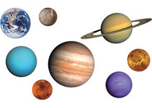 Set of 8 planets floor puzzle 62 pce