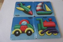Transport raised puzzles set of 4