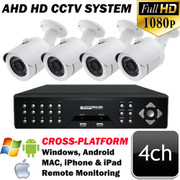 Unitek 4ch AHD HD CCTV IR Security Camera System UT1