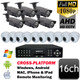Unitek 1080P AHD CCTV 16ch Security Camera System UT3
