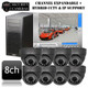 Geovision 8 channel PC DVR 800TVL IR Ball Camera System