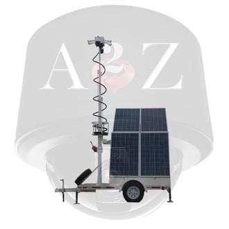 A2Z 4G WiFi Quad 360 IR 4MP Dual IR PTZ Solar Security Trailer