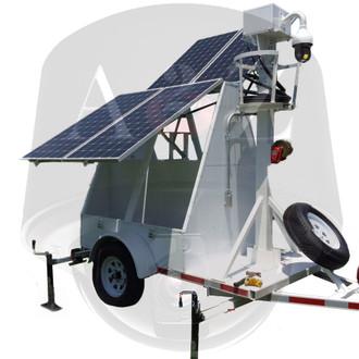 A2Z MMST-AZ1 Thermal IR PTZ Solar Surveillance Trailer