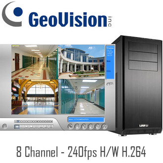 Geovision PC DVR System Hardware Compression H.264 - 240fps Real-time - 8ch