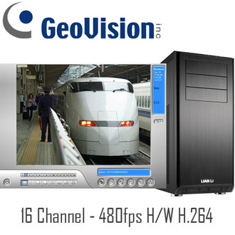 Hardware Compression H.264 16ch Real-time 480fps Geovision PC DVR