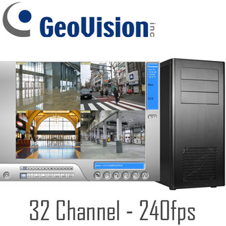 32ch 240fps Geovision PC DVR System