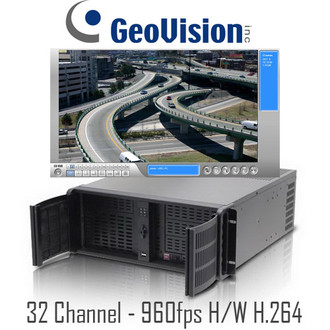 32 Channel 960fps Rackmount H/W h.264 Geovision PC DVR