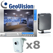 Geovision GV3-IP-SYSTEM Megapixel Cube IP Security Camera System is a complete 8 camera package with NVR Lite V2.