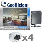 Geovision GV5-IP-SYSTEM Complete Megapixel IP Mini Dome Security Camera System