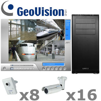 Geovision GV6-IP-SYSTEM Complete Megapixel IP Security Camera System