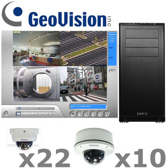 Geovision GV7-IP-SYSTEM is a complete indoor and outdoor Megapixel IR Dome IP Security Camera System.