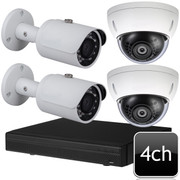 Dahua 4ch 4MP IR Dome Bullet IP Camera System OEM-SD6