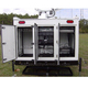 A2Z MCCT-LITE Mobile Command Center Trailer Lite rear compartments open