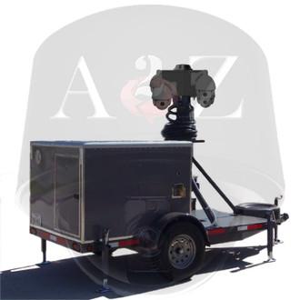 A2Z MMST-BG Generator Quad 4G IR HD PTZ Surveillance Trailer