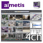 Aimetis Symphony Standard NVR 4ch license pack