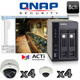 QNAP ACTI 8 channel Megapixel Dome IP Security Camera System