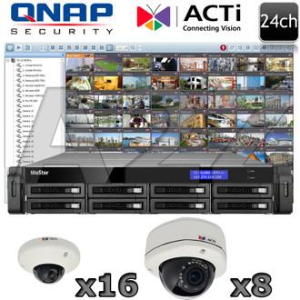 QNAP ACTI QA14 24ch 5 Megapixel Dome IP Camera system