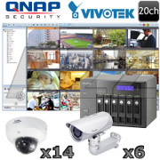 QNAP Vivotek QV13 20 channel Megapixel HD IP Security Camera System