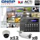 QNAP ACTI QA12 20ch 3 Megapixel Infrared IP Camera System