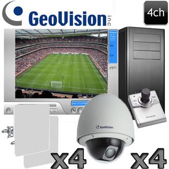 Geovision 4ch Wireless Outdoor 1080P HD PTZ Camera System GV18
