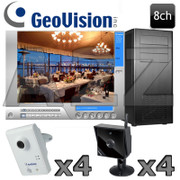 Geovision VIVOTEK 8ch Wireless IP Security Camera System GV17