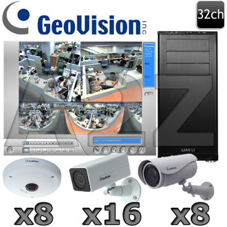 Geovision 32ch Megapixel HD IP Security Camera System GV15