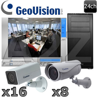Geovision 24ch Ultra 1080P HD IP Security Camera System GV14