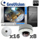 Geovision 24 channel Fisheye/Dome IP Security Camera System GV12