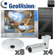 Geovision GV10 12ch Megapixel Fisheye-Bullet IP Security Camera System