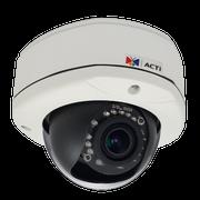 ACTi D81 1 Megapixel 720P HD IR Vandal Proof Dome IP Camera