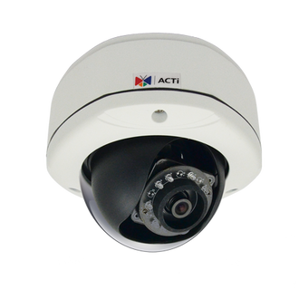 ACTi E71 720P HD WDR IR Vandal Proof Dome IP Camera