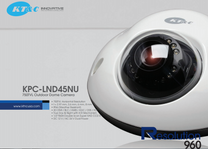 KT&C KPC-LND45NU Mini IR Vandal Dome Security Camera 750TVL