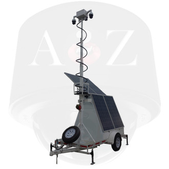 A2Z MMST-AZ1DIP 4G IR HD PTZ Solar Surveillance Trailer