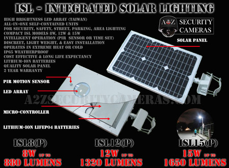 A2Z ISL Compact Solar LED Lighting System Flyer