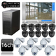 Geovision 16ch PC DVR CCTV IR Ball and IR PTZ Security Camera System