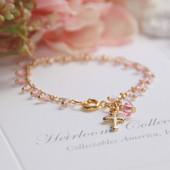 CJ-511  Pure Sweetness Pink Beaded Infant Bracelet