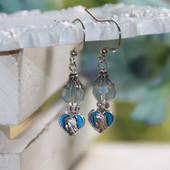IN-67  Mary Enamel and Crystal Earrings